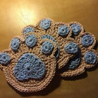 Blue Paw Coaster