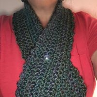 Neck Scarf with button